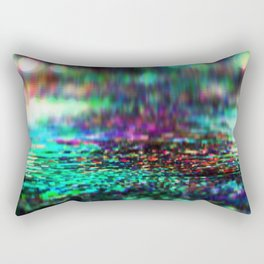 """Data City's highway"" [Pixel/Glitch Art] Rectangular Pillow"