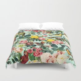 Floral and Birds III Duvet Cover