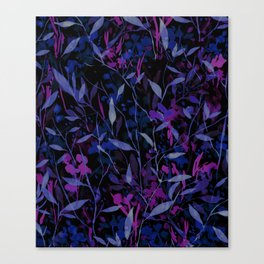 Wandering Wildflowers Midnight Canvas Print