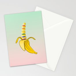 Gay Pride Banana Stationery Cards
