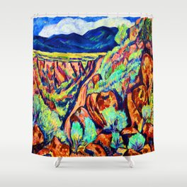 Marsden Hartley Landscape of New Mexico Shower Curtain