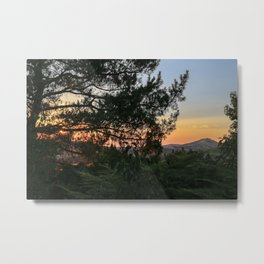 Sunset in Idaho Metal Print