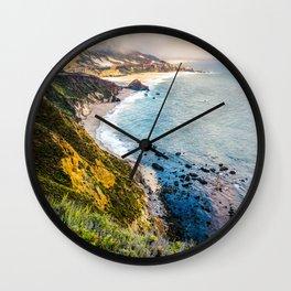 Big Sur First Light Wall Clock