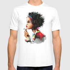 African woman Mens Fitted Tee White MEDIUM