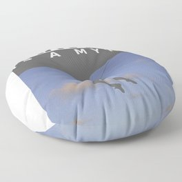 Gravity Is A Myth Rock Wall Climbing Floor Pillow