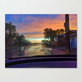 wet road view Canvas Print