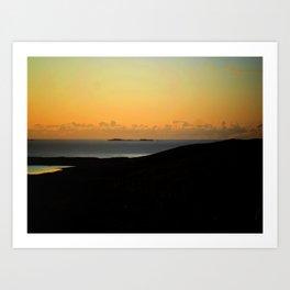 Hebridean Isle Sunset Art Print