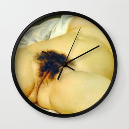 (BIG) Origin of the World : L'Origine du monde by Gustave Courbet Wall Clock
