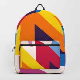 Abstract modern geometric background. Composition 20 Backpack