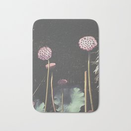 Lotus Seed Heads Bath Mat