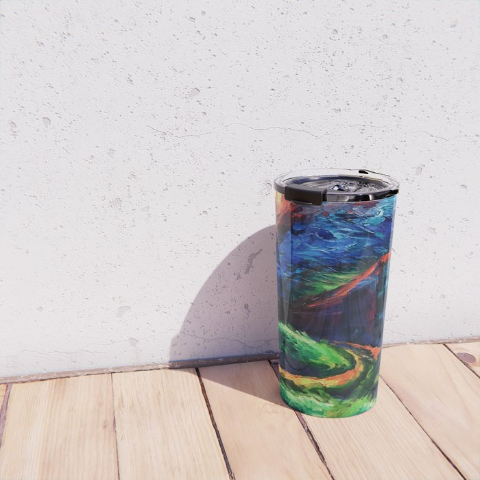 """The Crossroad"" Painting Travel Mug"