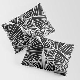 Black And White Line Drawing Illusion Art Pillow Sham