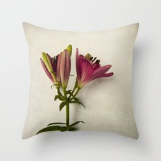 Botanical Lily No. 7719 Throw Pillow