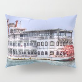 New Orleans Paddle Steamer Pillow Sham