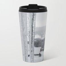 Snow Landscape Through Ice Travel Mug