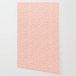Leopard Print | Pastel Pink Girly Bedroom Cute | Cheetah texture pattern Wallpaper