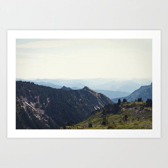 Sunny Mountain Art Print