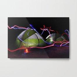 Glow Tents Metal Print