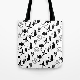 Creepy Cute Halloween Apparel Design, Witches and Cats Tote Bag