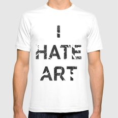 I HATE ART / PAINT Mens Fitted Tee MEDIUM White