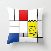 simpson Throw Pillows featuring Art Simpson by Domenic Bahmann