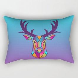 Deer | Geometric Colorful Low Poly Animal Set Rectangular Pillow