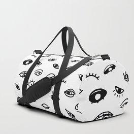 Bad Eyes (White) Duffle Bag