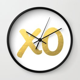 XO gold Wall Clock