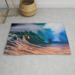 Slow Shutter Of Wave Rug
