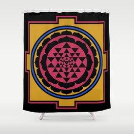 Yantra Mantra Shower Curtain