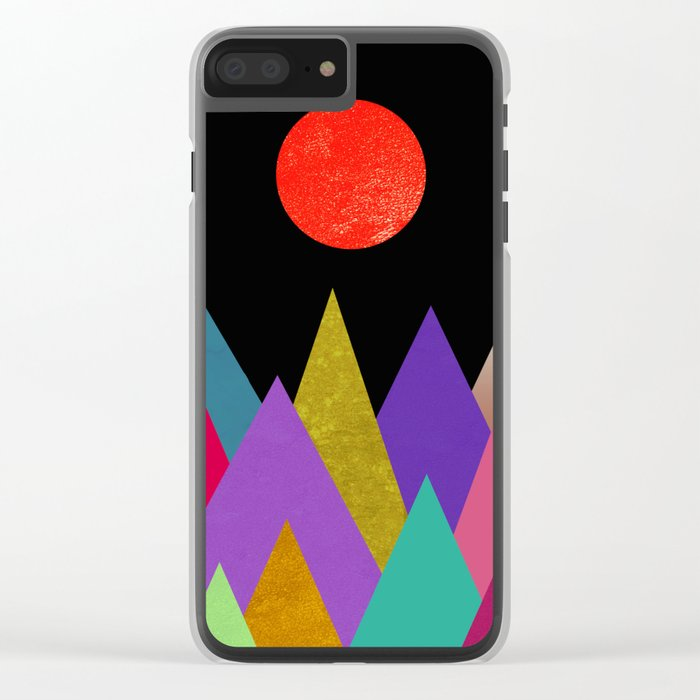 Abstract #449 Clear iPhone Case