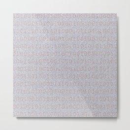 Binary in Bronze Metal Print
