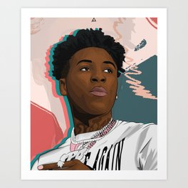 Never Broke Again YoungBoy Art Print