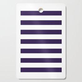 dark purple stripes Cutting Board
