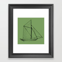 Eka Green Framed Art Print