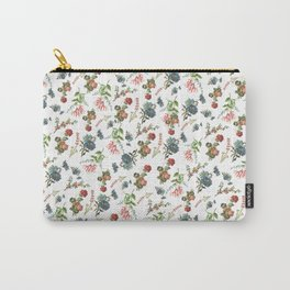 Antique Floral Pattern Carry-All Pouch