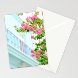 Colonial Havana Architecture with Pink Bougainvillea Stationery Cards