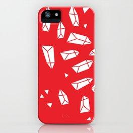 White Crystals on Red iPhone Case