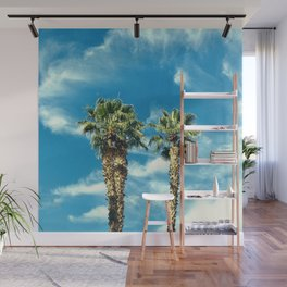 Palm Trees Floating Upward to the Heavens Wall Mural