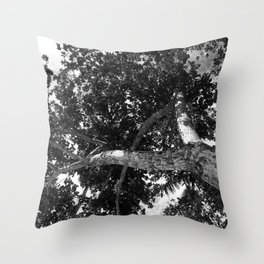 Twist tree Throw Pillow