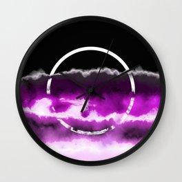 Reflections in Purple Wall Clock