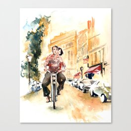 """Scene from """"Amelie"""" Canvas Print"""