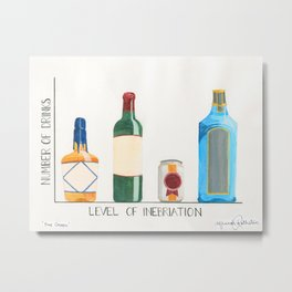 Visual Geek Puns - Bar Graph Metal Print