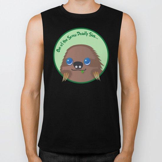 Adorable Sloth Biker Tank