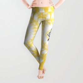 Gone to the Beach (Yellow) Leggings