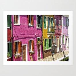 Burano, Venice - Italy Art Print