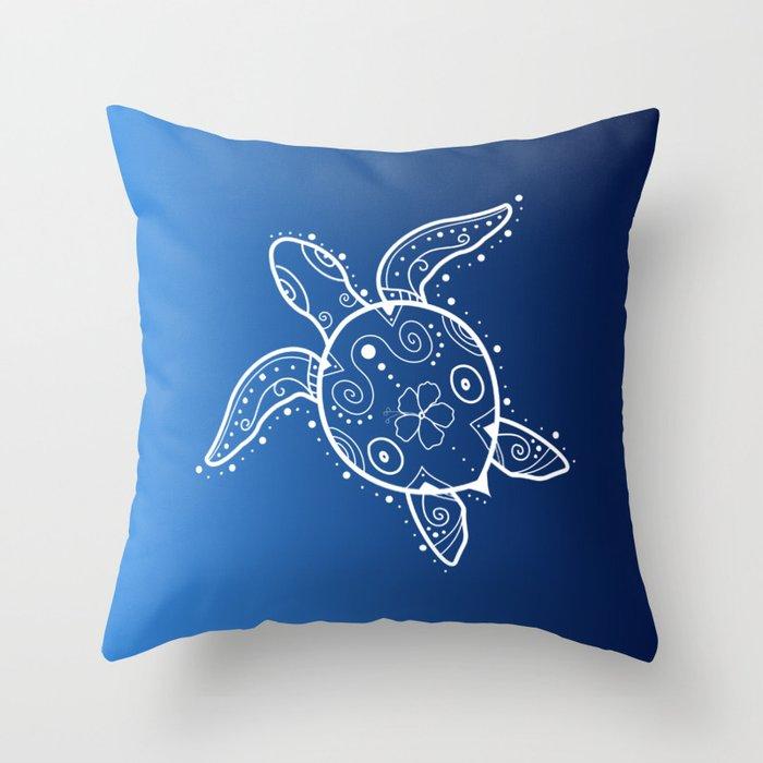 Brand-new Sea Turtle Henna on blue Throw Pillow by tarahowardco | Society6 YY11