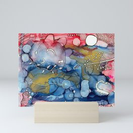 Reef of Rose and Prussian Mini Art Print