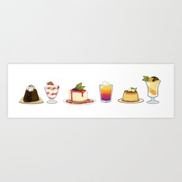 Summer Desserts Art Print