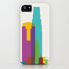 Shapes of Los Angeles accurate to scale iPhone Case